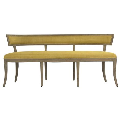 yellow bench ivette rustic french curved saffron yellow bench kathy