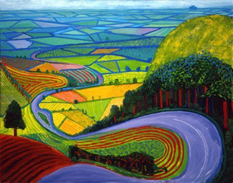 Landscape Artists Work Bensozia David Hockney