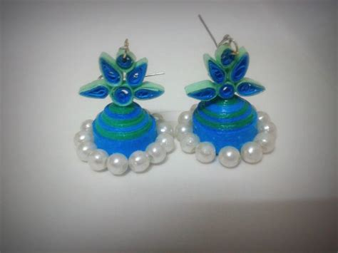 How To Make Paper Jewellery Jhumkas - quilled jhumka for more visit www