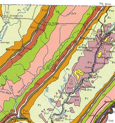 maryland formation map geologic maps of maryland garrett county 1968
