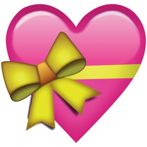 emoji wallpaper png download pink heart with ribbon emoji png you d give that