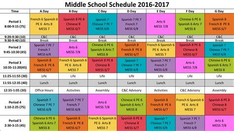 colors schedule catlin gabel school schedule