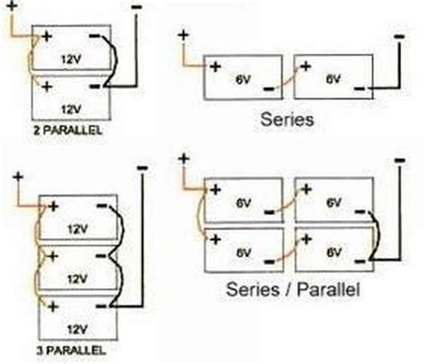 12 volt battery wiring diagram house batteries in series