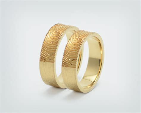 Partnerringe Gold by Trauringe Fingerabdruck Gold Www Solo1 Unikatschmuck De