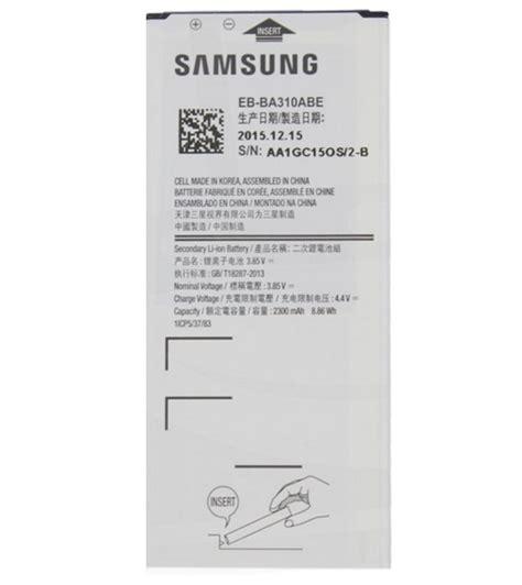 Baterai Samsung Galaxy A3 2016 A310 Kualitas Original 100 akku original samsung galaxy a3 2016 eb ba310abe 2300mah ebay
