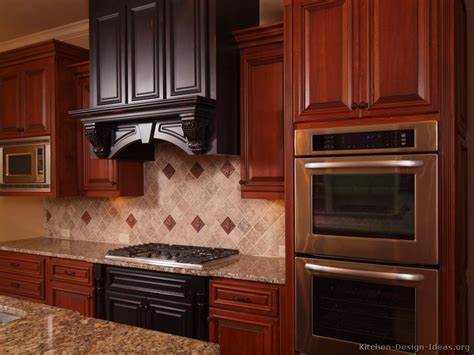 cherry oak cabinets kitchen kitchenette cabinets red kitchen walls with oak cabinets
