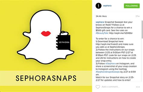 Sephora Snapchat Sweepstakes - brandchannel growth watch how snapchat became a 20 billion brand