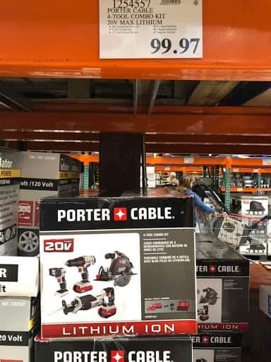 costco ymmv porter cable  tool combo kit  max