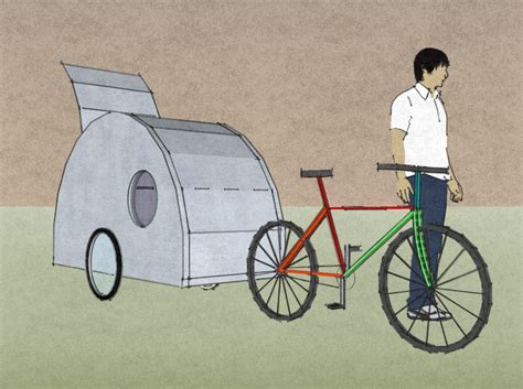 ultralight teardrop trailer for a bicycle tiny house