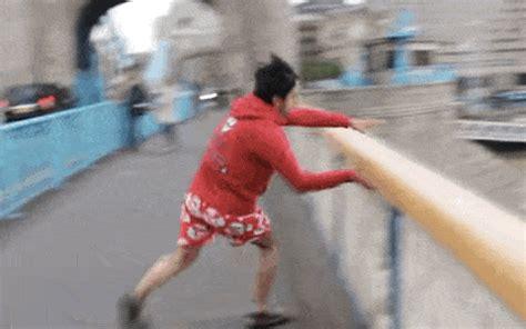 river thames jump stunt man jumps off tower bridge in london calls it stupidest