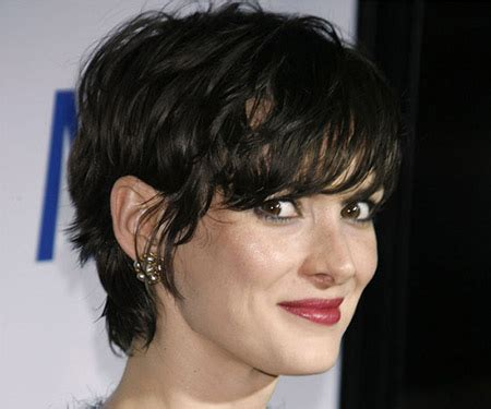 how to do a messy pixie hairstyles messy pixie cut of winona ryder with fantastic bangs