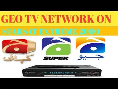 geo tv network on starsat extreme 2000 hd /hindi /urdu
