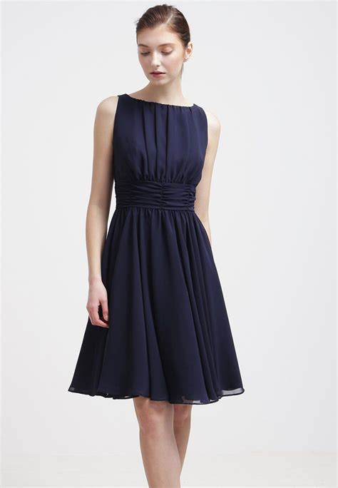 swing cocktailkleid festliches kleid schwarz blau - Swing Cocktailkleid Zalando