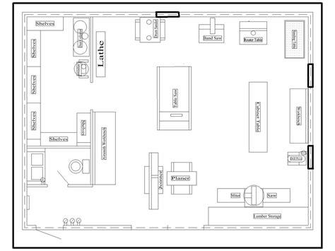 wood workshop layout shop layout workshop layout