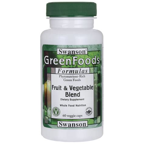 Suplemen Vege fruit vegetable supplement blend swanson 174