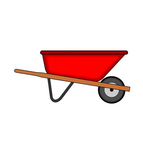 wheelbarrow clipart wheelbarrow vector clipart image free stock photo