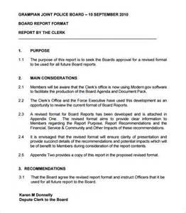 Sample Report Format