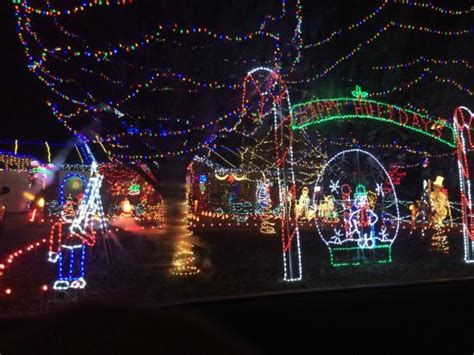 christmas lights picture of charlotte motor speedway