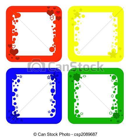 cornici divertenti archivio illustrazioni di cornici colored cornici