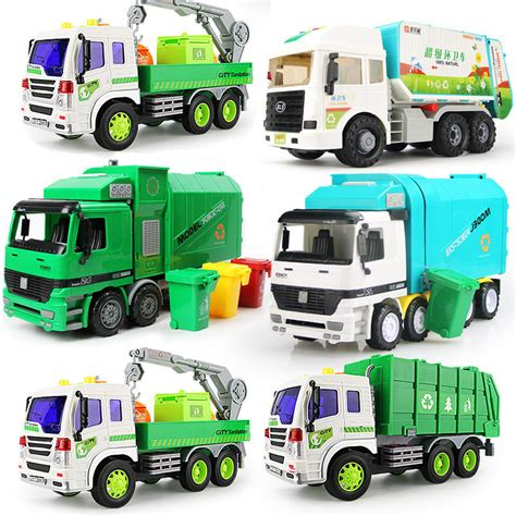 Bigsizr Jumbo Brie 1 big size jumbo children s large loading five styles garbage truck with 3 rubbish bin car in