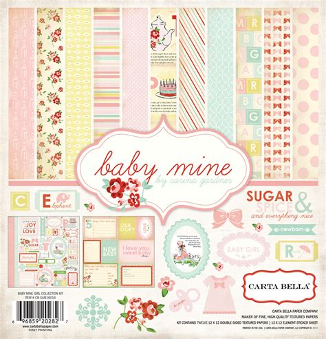 Baby Mine collections echo park paper co baby mine