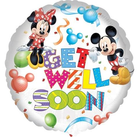 Balon Foil Pentungan Mickey Minnie mickey minnie get well soon balloon 17inches 43cm