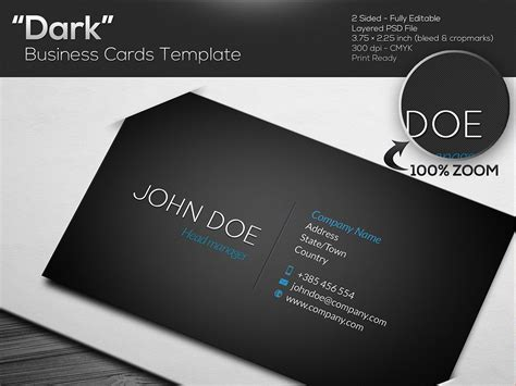 Business Card Template Black Design by Black Business Card Template Business Card