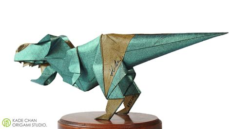 How To Make An Origami T Rex - 11 ferocious origami dinosaurs origamiuniversity