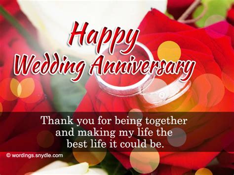 Wedding Anniversary Wishes Letter by Wedding Anniversary Messages For Parents Wordings And