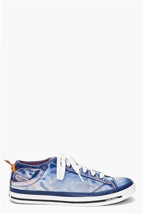 Sneakers Denim 1 diesel denim expoiak low top sneakers in blue for