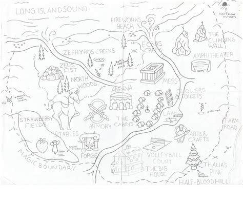 c half blood map map of c half blood coloring pages pictures to pin on