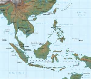 South East Asia Physical Map by Physical Maps Of Southeast Asia Free Printable Maps