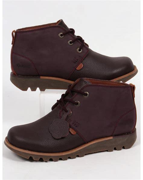 Sepatu Kickers Brontosaurus Casual Brown Leather kickers kick chukka boots