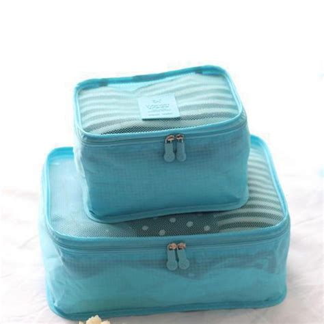 Bag Tas Perlengkapan Bayi Traveling Bag Organize Diskon tas travel bag in bag organizer barang 6 set blue