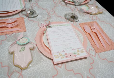 baby shower place settings sweet pea pod baby shower project nursery
