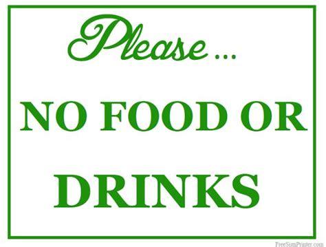 no food or drink printable no food or drinks sign free printables