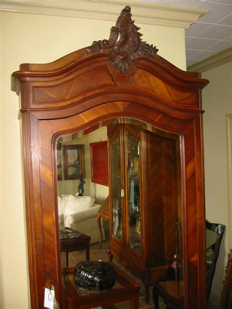 mirrored armoire for sale french mahogany walnut wood mirror armoire for sale
