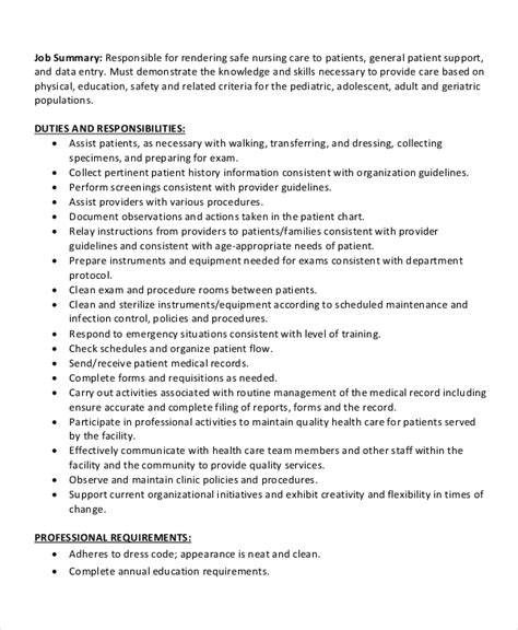 10 medical assistant job description templates pdf doc