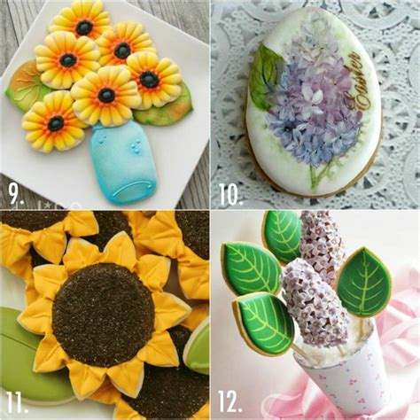 decorating sugar cookies ideas twenty decorated flower cookie tutorials for mother s day