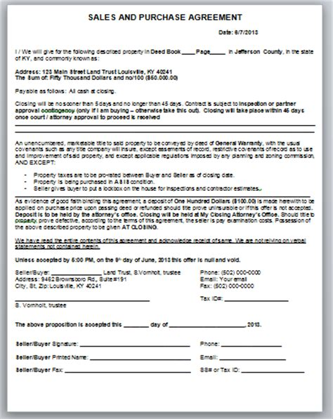 sales agreement for buying a house how to fill out a sales and purchase contract and