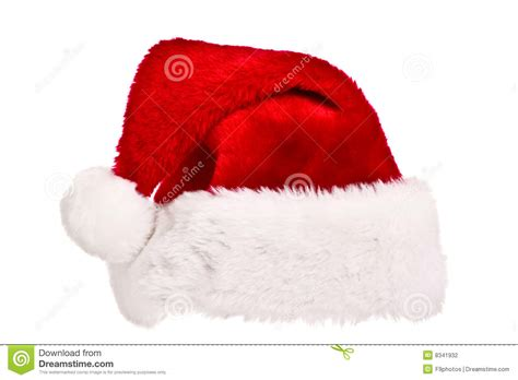 santa hat isolated on white stock photography image 8341932