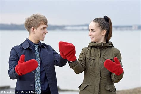 Smittens For Holding In The Cold by The Smitten Mitten For Loved Up Couples To Hold In
