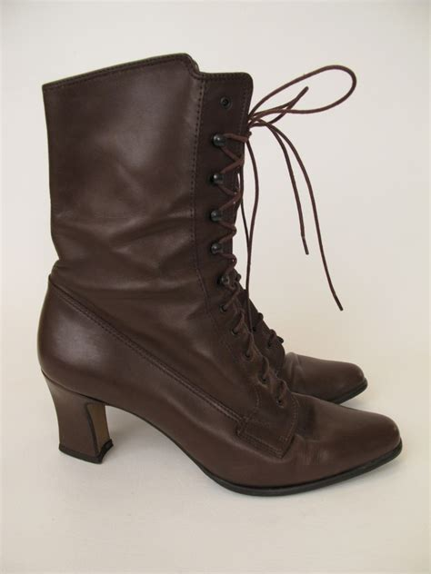 7 Gorgeous Pairs Of Lace Up Boots by Vtg 80s 90s Lace Up Boots Bandolino 6 5m
