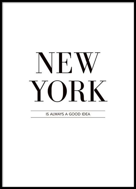 New York City Wall Sticker typography poster print 226 new york is always 226 black