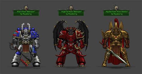Betrayer Horus Heresy wh40kart image 40852 argel tal chainaxe chaos