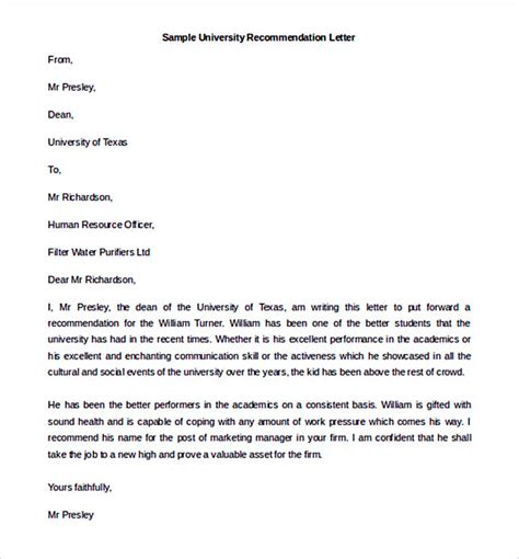 Letter Of Recommendation Uses best recommendation letter template to use