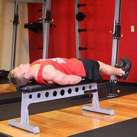 leg raises bench flat bench lying leg raise exercise guide and video