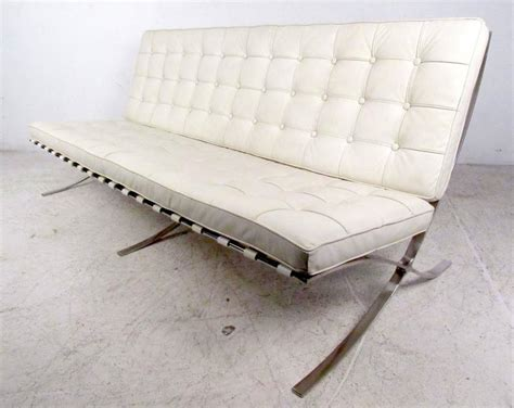Barcelona Leather Sofa Stylish Vintage Barcelona Style Leather Sofa For Sale At 1stdibs