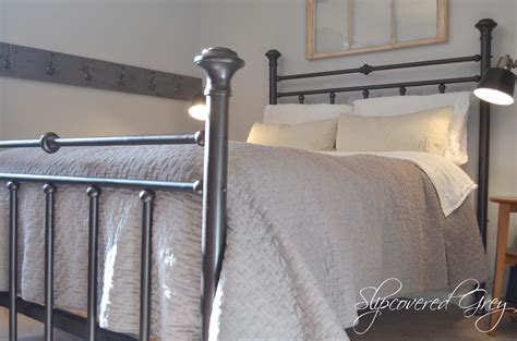 how to paint a bed the magic of spray paint slipcovered grey