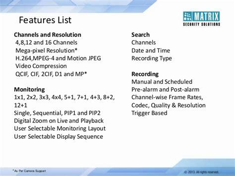 matrix security solutions satatya nvr network recorder